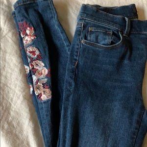 Floral design Jeans